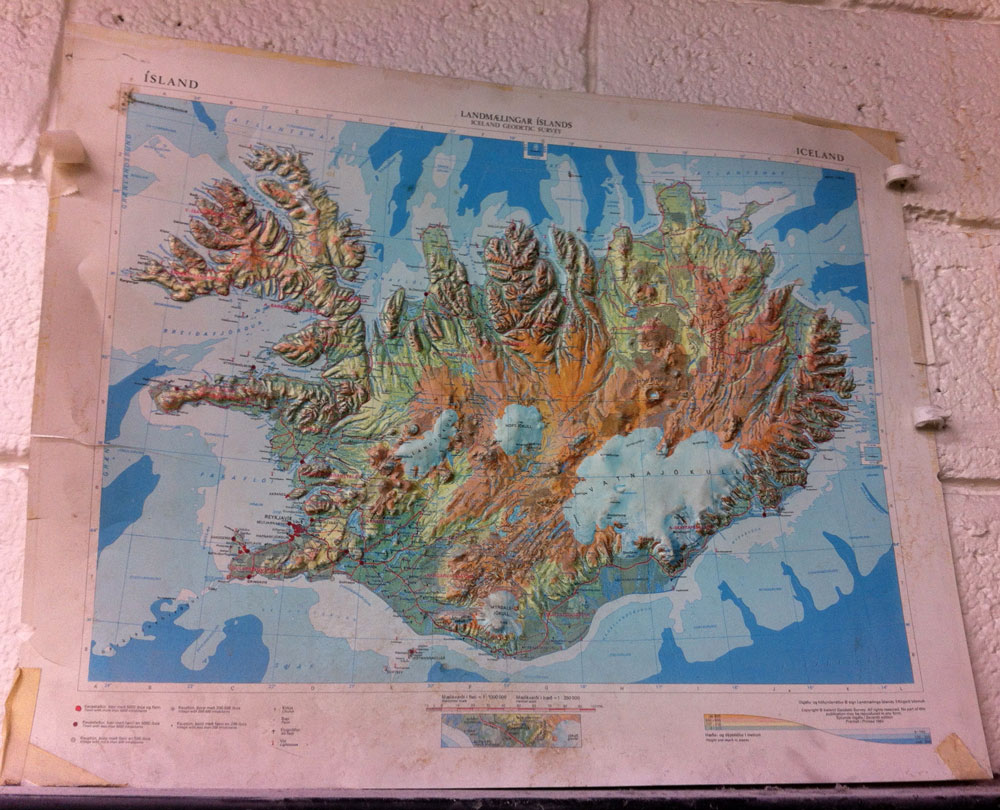 Topographic Map Of Iceland.Old Iceland Topographic Map Gil Shuler Graphic Design