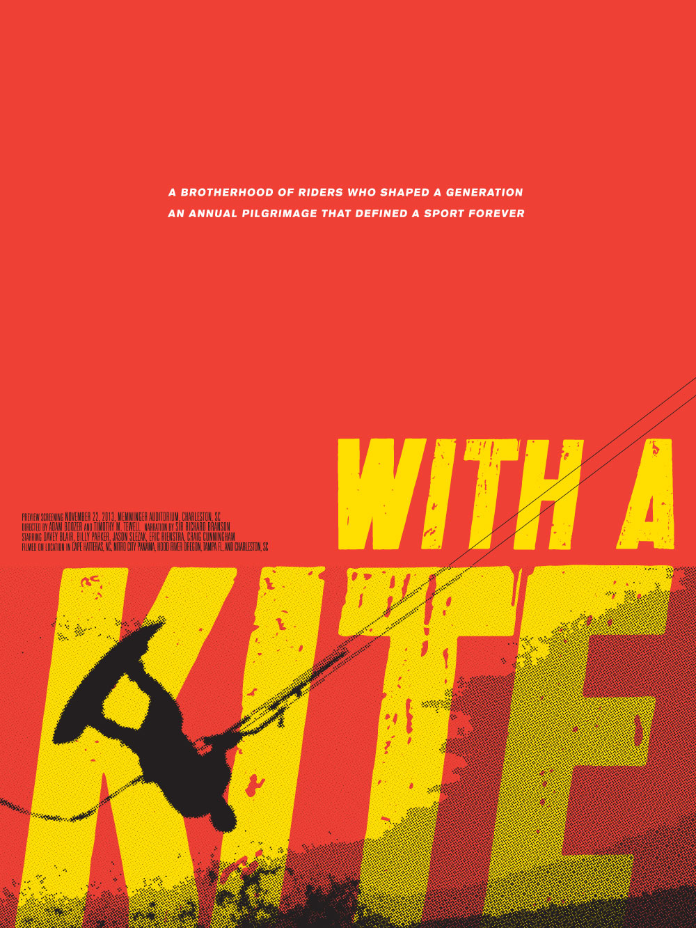 Poster design documentary - With A Kite Poster