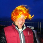 as the sun was coming up the wind blew this great wig right onto marteinns head. crazee.